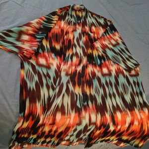 Long multicolored duster